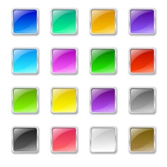 Botões quadrados