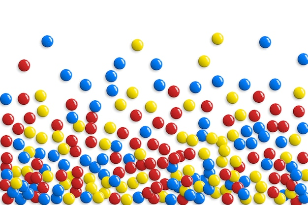 Botões redondos brilhantes ou padrão de bolhas de jogo