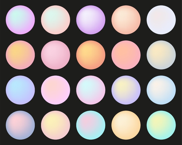 Botões redondos multicoloridos em tons pastel isolados