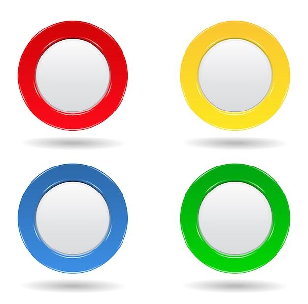 Botões redondos