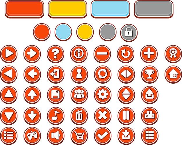 Botões vermelhos do jogo