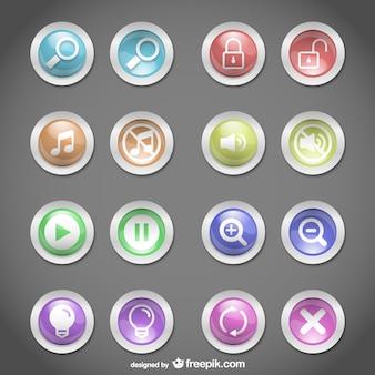 Botões web design redondo