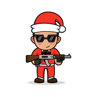 Bounty killer com uniforme de papai noel
