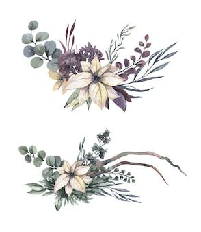 Bouquet de flores em aquarela.