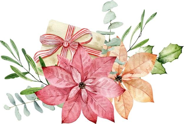 Bouquet de natal em aquarela