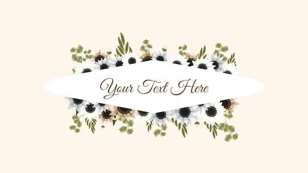 Bouquet floral frame flores vintage cartão de felicitações, casamento, social