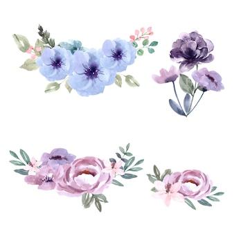 Bouquet para decoração de capa única, flores de cores exóticas