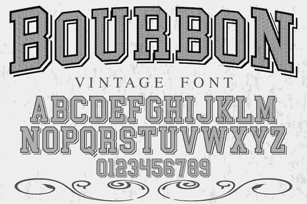 Bourbon de fonte vintage tipo de letra