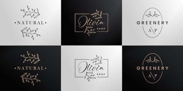 Boutique de coleção de design de logotipo de marca dourada