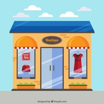 Boutique elegante na rua