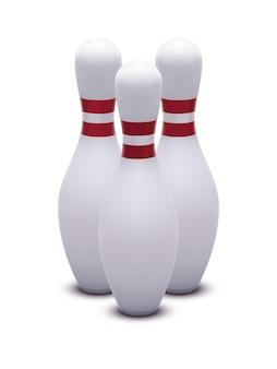 Bowling. ilustração 3d realista.