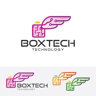 Box wings, modelo de logotipo