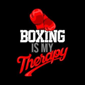 Boxe é minha terapia. provérbios e citações do encaixotamento