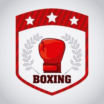Boxe escudo logotipo design gráfico