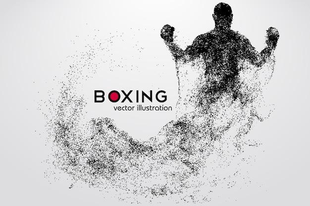 Boxe, silhueta de um boxeador