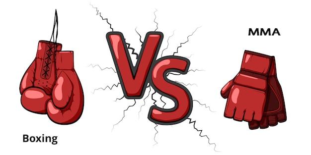 Boxe versus artes marciais misturadas.