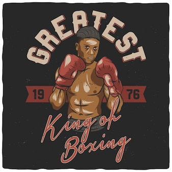 Boxer com luvas de boxe