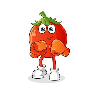 Boxer mascote de tomate