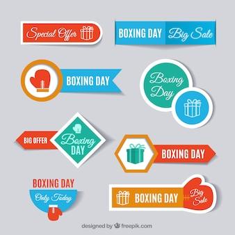 Boxing dia etiqueta a coleção