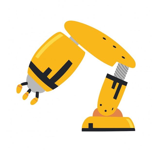Braço robótico, mão