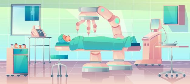 Braços de robô durante uma operação