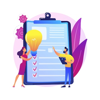 Brainstorm da equipe de negócios, lâmpada. declaração de visão, missão empresarial e empresarial, conceito de planejamento de negócios