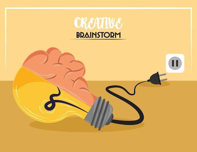 Brainstorm de criatividade de bulbo