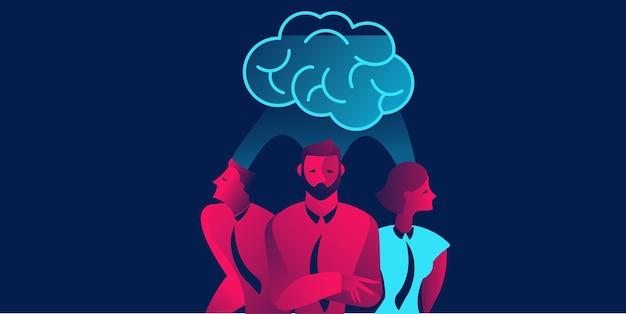 Brainstorm ilustração do conceito de trabalho em equipe