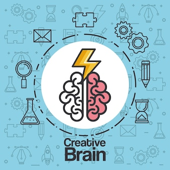 Brainstorming creative idea knowledge abstract icon