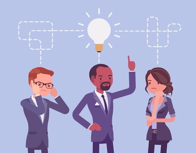 Brainstorming da equipe de negócios
