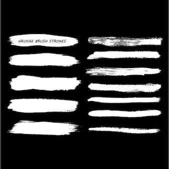 Brancas pinceladas grunge