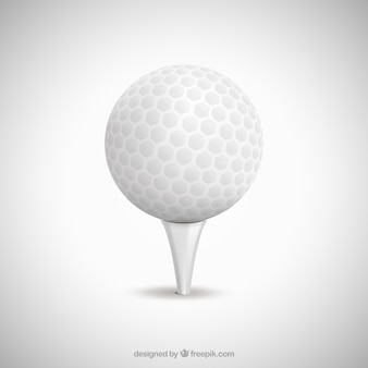 Branco bola de golfe
