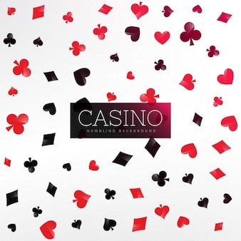 Branco casino com elementos do cartão do póquer