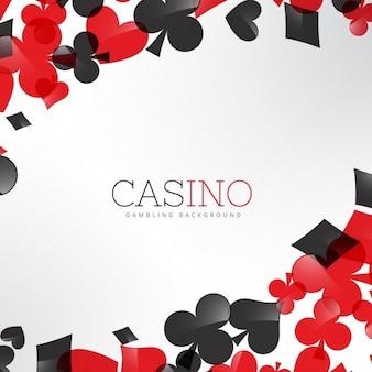 Branco casino com símbolos dos cartões de jogo