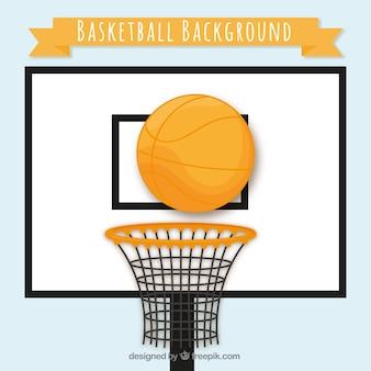 Branco cesta de basquete