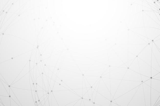 Branco com conexão de rede low poly