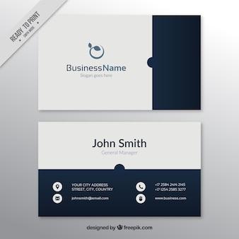Branco e cartão de visita azul