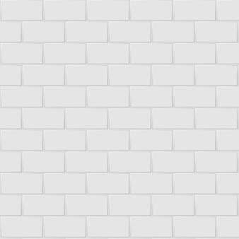 Branco e cinza, as telhas de mosaico de retângulo cerâmico revestem alta resolução. tijolo sem costura e textura interior fundo limpo.