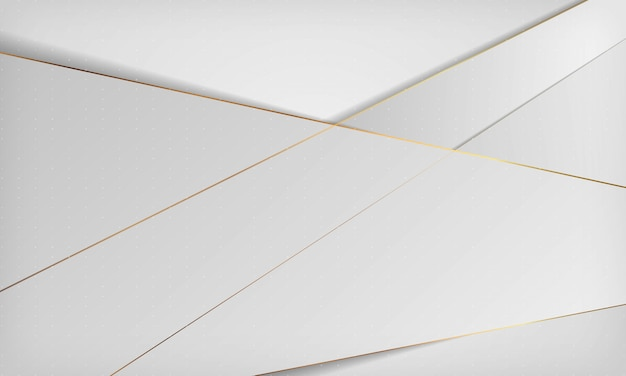 Branco e cinza luxo abstrato com linha dourada.