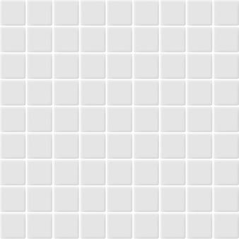 Branco e cinza, os azulejos de mosaico cerâmico revestem a alta resolução. tijolo sem costura e textura interior fundo limpo.