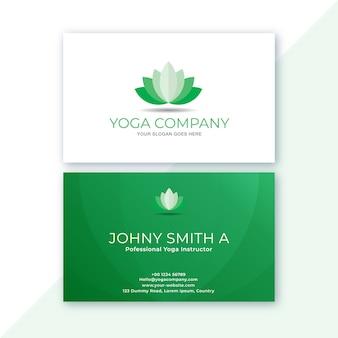 Branco e verde no cartão de visita limpo
