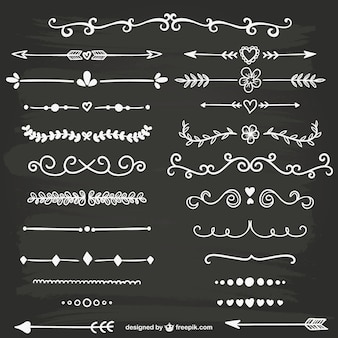 Branco ornamentos caligráficos