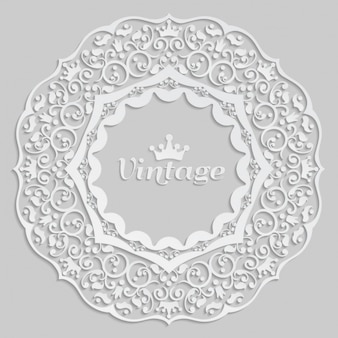 Branco quadro decorativo do vintage