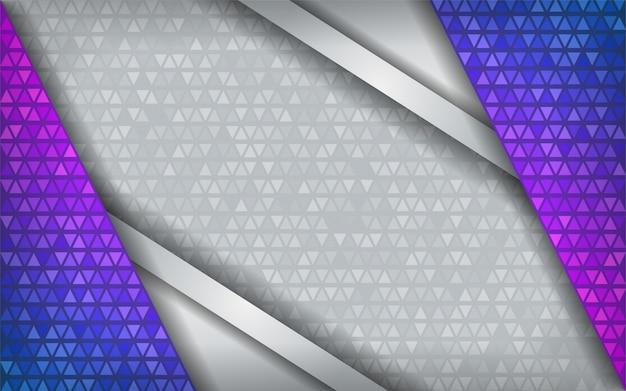 Branco roxo azul abstrato moderno da tecnologia com fundo da sobreposição.