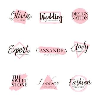 Branding coleção de design de tipo de logotipo