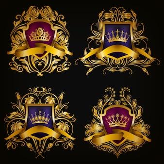 Brasão de armas com coroa