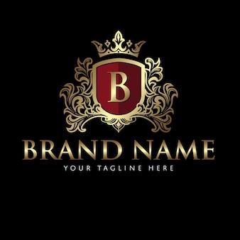 Brasão de braço clássico elegante logotipo