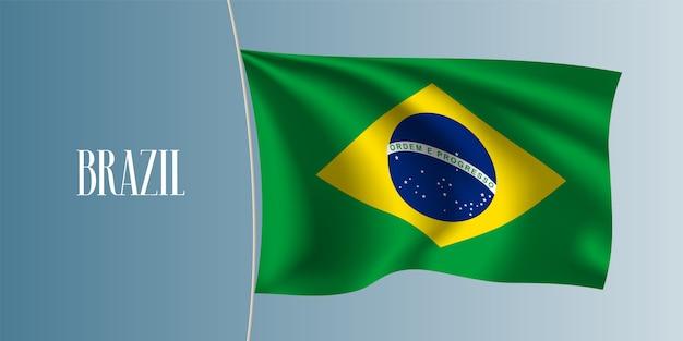 Brasil agitando bandeira