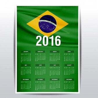 Brasil calendário de 2016