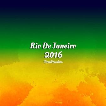 Brasil colore o fundo da aguarela